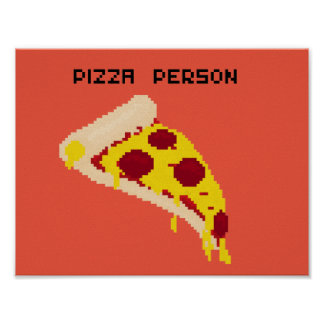 Pizza Person Poster Paper