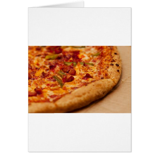 Pizza photo card