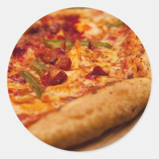 Pizza photo classic round sticker