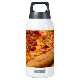 Pizza photo insulated water bottle