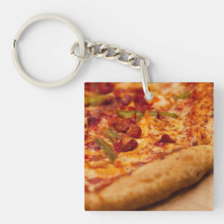 Pizza photo keychain