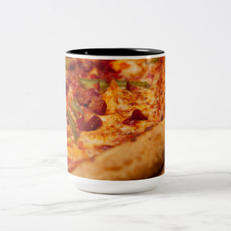 Pizza photo Two-Tone coffee mug