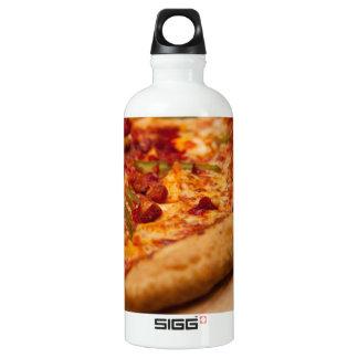 Pizza photo water bottle