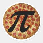 Pizza pi pegatinas redondas