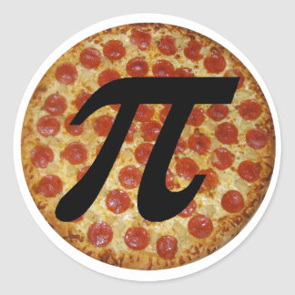 Pizza PI Classic Round Sticker