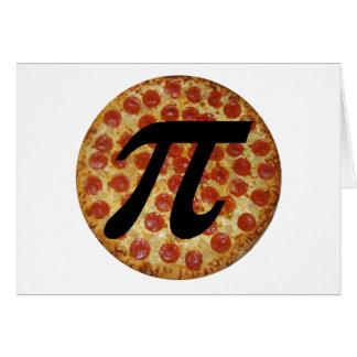Pizza pi tarjeta de felicitación
