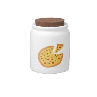 Pizza Pie Candy Jars