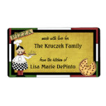 Pizza Pie Chef Food Preparation Labels