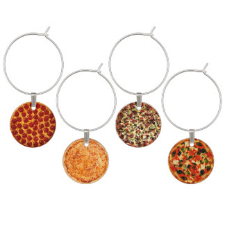 Pizza Pies Wine Glass Charm