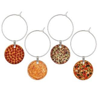 Pizza Pies Wine Glass Charm