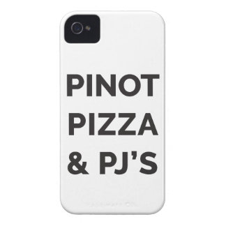Pizza, Pinot and PJ's Funny Wine Print Case-Mate iPhone 4 Case