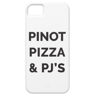Pizza, Pinot and PJ's Funny Wine Print iPhone SE/5/5s Case
