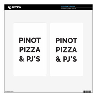 Pizza, Pinot and PJ's Funny Wine Print Kindle Fire Decal