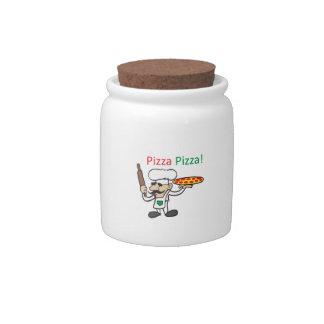 PIZZA PIZZA CANDY DISH