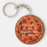 Pizza Pizzeria Custom Promotional Keychains