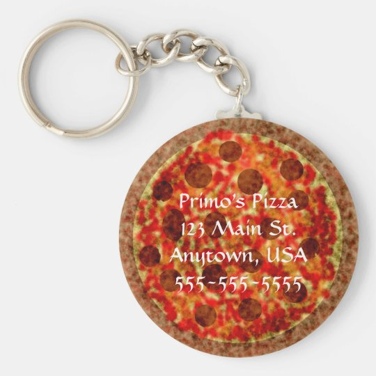 Pizza Pizzeria Custom Promotional Keychains
