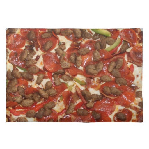 Pizza placemat zazzle for Space pizza fabric