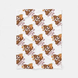 Pizza Poop Emoji Fleece Blanket