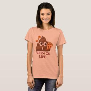 Pizza Poop Emoji T-Shirt