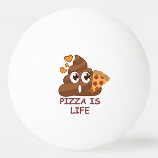 Pizza Poop Life Ping Pong Ball