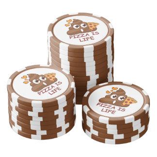 Pizza Poop Life Set Of Poker Chips