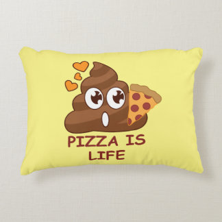 Pizza Poop Lover Accent Pillow