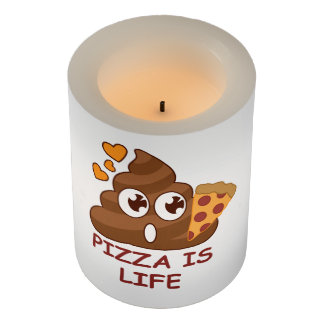 Pizza Poop Lover Flameless Candle