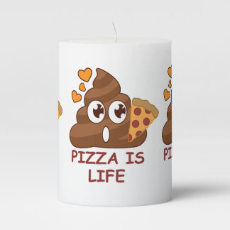 Pizza Poop Lover Pillar Candle