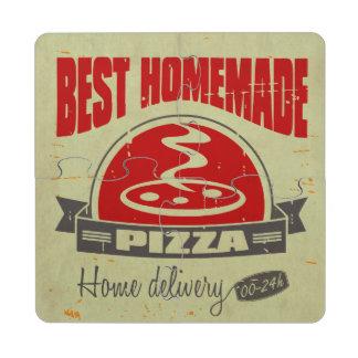 Pizza Posavasos De Puzzle