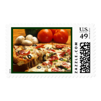 pizza postage stamp