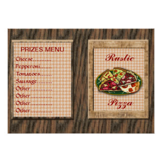 Pizza Prices Menu Poster