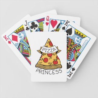 Pizza Princess Bicycle Playing Cards