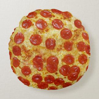 Pizza Print Round Pillow