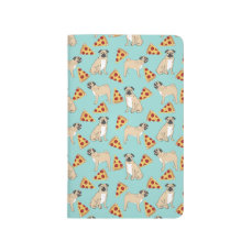 Pizza Pug notebook cute dog gifts