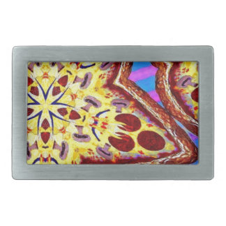 Pizza Rectangular Belt Buckle
