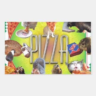 PIZZA RECTANGULAR STICKER