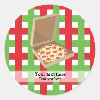 Pizza restaurant classic round sticker