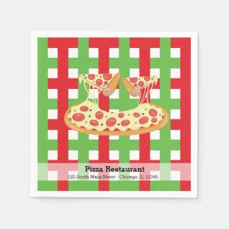 Pizza restaurant paper napkin