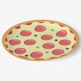 Pizza restaurant paper plate