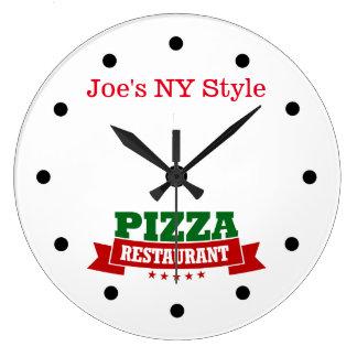 Pizza Restaurant Theme Wall Clock