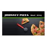 Pizza, restaurante, abastecimiento, tarjeta de tarjetas de visita