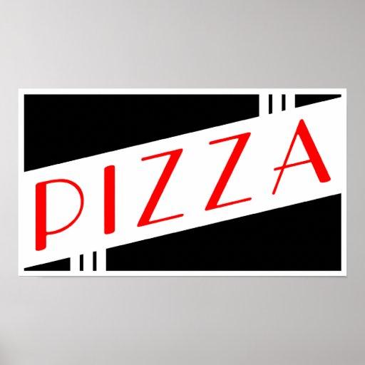 pizza retra poster