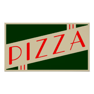 pizza retra posters