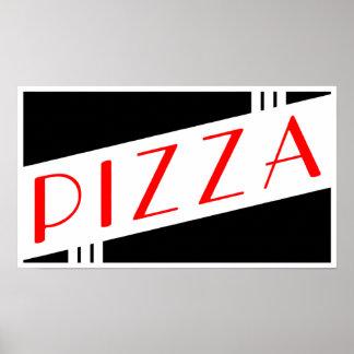 pizza retra póster