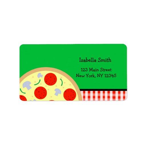 Pizza Return Address Labels