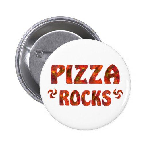 PIZZA ROCKS PINBACK BUTTON