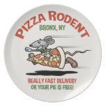 Pizza Rodent Dinner Plates