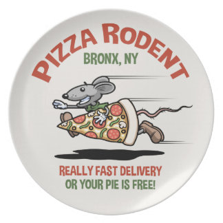 Pizza Rodent Melamine Plate