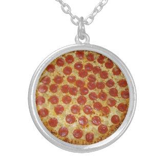 pizza round pendant necklace