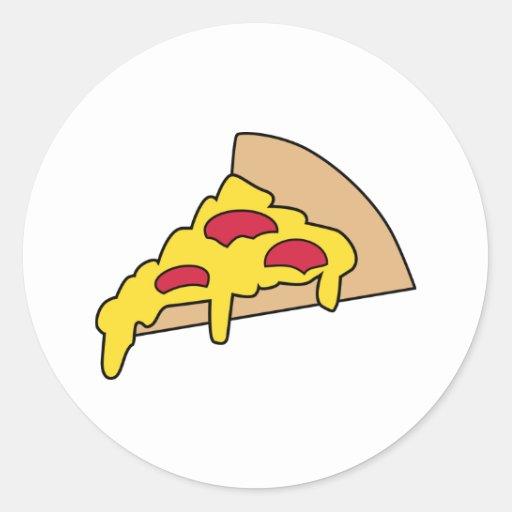 Pizza Round Stickers